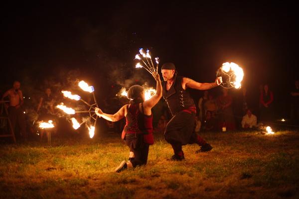 Feuershow - Freies Feuer